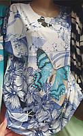 Женская футболка с бабочкой на лето в одном размере