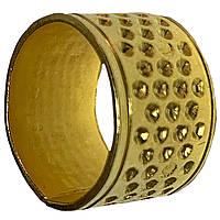 Наперстки для шитья СКВОЗНОЙ D=19mm золотой, для ручного шитья