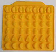 """Силиконовая форма для желейных конфет """"Фруктовое ассорти"""" на 42 ячейки"""