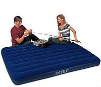 Надувной матрас (матрац) Intex 64759 велюровый двуспальный 152х203х25см