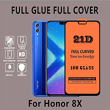 Премиум 5D стекло для Huawei Honor 8X / люкс качество / полный клей / Есть чехлы /