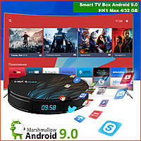Смарт ТВ приставка Vontar HK1 MAX 4/32 GB 4К Android 9.0 Smart TV Box 1080 андроид BT4,0 DDR3 H6 3d x96
