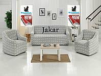 Чехол на диван и два кресла. Светло-серый