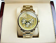 Часы Michael Kors Date 36mm Yellow Gold Quartz. Реплика, фото 1