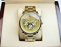 Годинник Michael Kors Date 36mm Yellow Gold Quartz. Репліка, фото 1