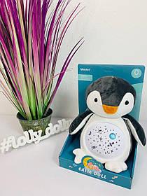 Мягкий Ночник с проектором Пингвин