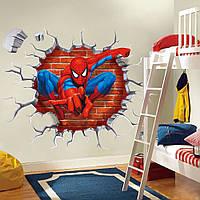 """Интерьерная наклейка на стену в детскую """"Человек-паук (Spider-Man)"""""""