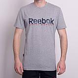 Чоловіча спортивна футболка Reebok, кольору хакі, фото 3