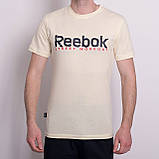 Чоловіча спортивна футболка Reebok, кольору хакі, фото 4