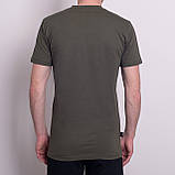Чоловіча спортивна футболка Reebok, кольору хакі, фото 2