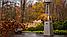 Садовый камин газовый KRATKI UMBRELLA BS стальной белый, фото 10