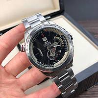 Часы Tag Heuer Grand Carrera Calibre 36 RS Chronograph Steel Silver-Black / Таг Хоер