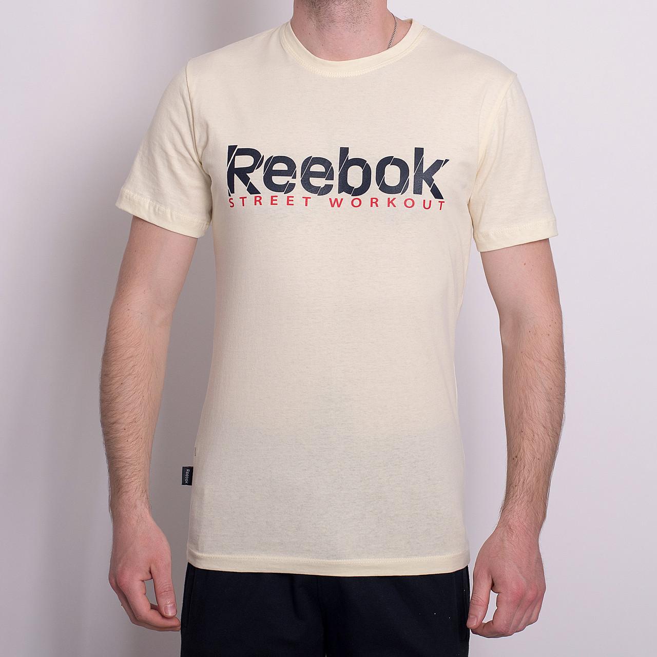 Чоловіча спортивна футболка Reebok, блідо-жовтого кольору