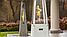 Садовый камин газовый KRATKI UMBRELLA стальной белый, фото 7