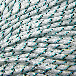 Паракорд для плетения браслетов, Полиэстер, 2 мм, Цвет: Белый (5 метров)