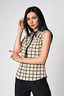 Женская бежевая блуза, фото 1
