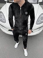 Мужской велюровый спортивный костюм Philipp Plein (реплика)