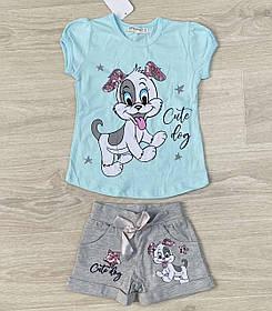 Детский костюм для девочки ткань коттон принт собачка