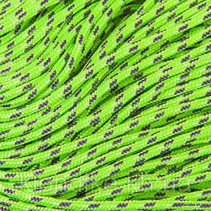 Паракорд для плетения браслетов, Полиэстер, 2 мм, Цвет: Салатовый (5 метров)
