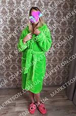 Халат махровий жіночий короткий з капюшоном р. 42-50, фото 2