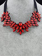 Колье Магия красного с кристаллами модная бижутерия 45 см. 049928