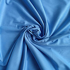 Сатин однотонный голубой ширина 220 см