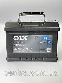 Автомобильный аккумулятор EXIDE PREMIUM EA612 61Ah