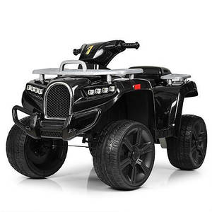 Квадроцикл детский Bambi ZP5138E-2 2 мотора 25W MP3 USB колеса EVA черный