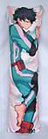 Дакімакура Подушка обнімашка 120х40 см із змінною наволочкою Мідорія, фото 3