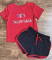 {есть:134} Комплект для девочек Balenciaga,  Артикул: PK1515-красный [134]