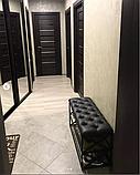 Банкеткa - Пуф для обуви в стиле Loft, с мягким сиденьем ( 2 полочки) 100 см, фото 2