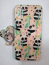 Чехол Samsung A10 Panda+попсокет