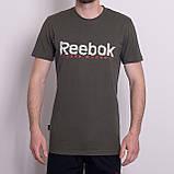 Чоловіча спортивна футболка Reebok, зеленого кольору, фото 4