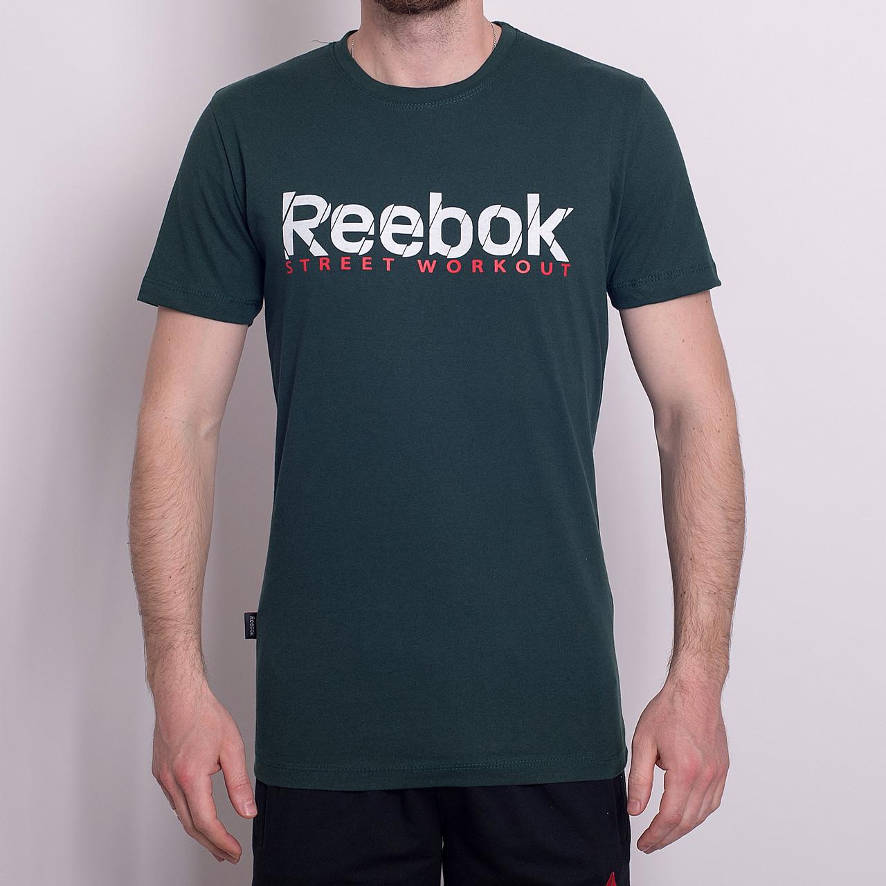 Чоловіча спортивна футболка Reebok, зеленого кольору