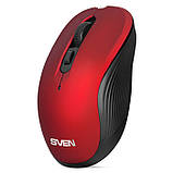 Мышка SVEN RX-560SW красная беспроводная тихая, фото 3