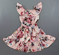 {есть:134,146,158} Платье для девочек ,   Артикул: NT299-цветы [134]