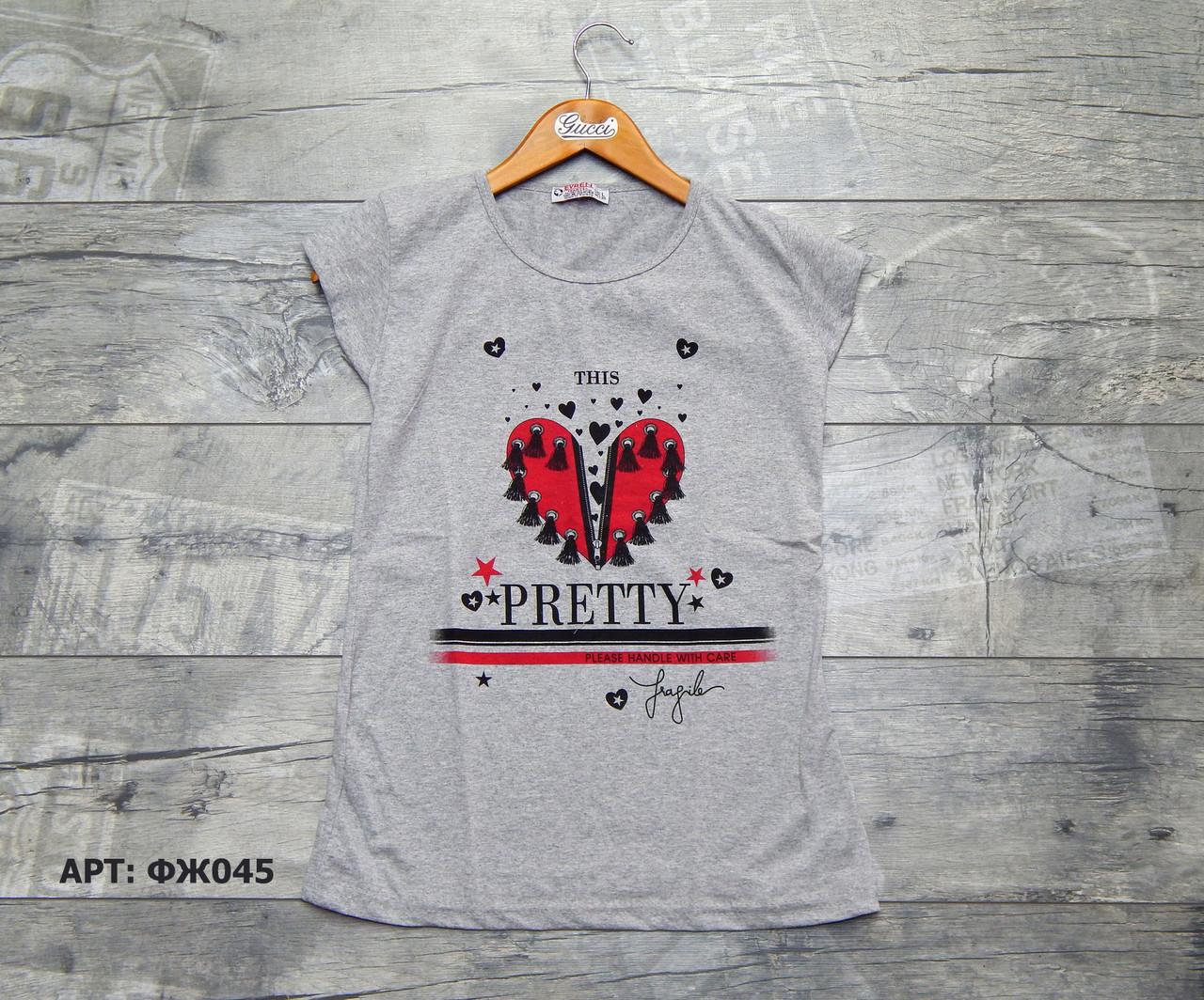Жіноча футболка. Розміри: L/2XL