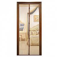 Сетка антимоскитная для дверей 100*210 коричневая