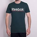 Чоловіча спортивна футболка Reebok, кольору хакі, фото 5