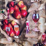 "Клеенка на флизелиновой основе ""Вино в бокале"" ПВХ подходит для поклейки стен, фото 2"