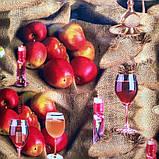"Клеенка на флизелиновой основе ""Вино в бокале"" ПВХ подходит для поклейки стен, фото 5"
