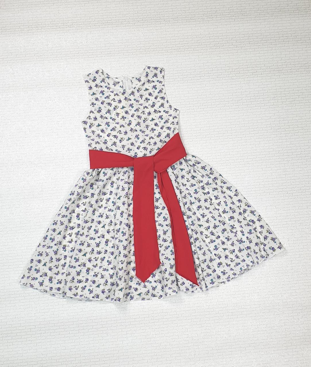 Платье   для девочки Фея 104-122 молочный  в цветочек