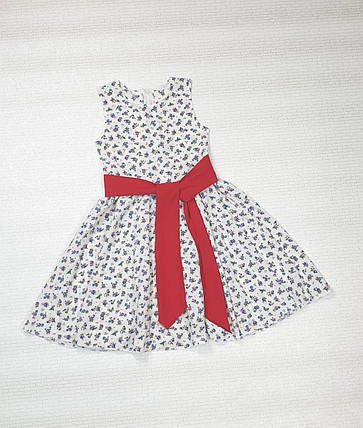 Платье   для девочки Фея 104-122 молочный  в цветочек, фото 2