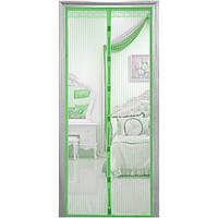 Сетка антимоскитная для дверей на магнитах 100*210 зеленая