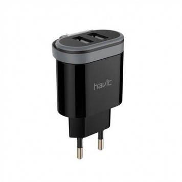 Пристрій зарядний Havit №HV-UC8809/7911 для мобіл. телеф. 2USB,Lightning cable black