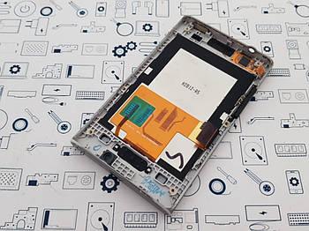 Дисплей LG E400 модуль черный Сервисный оригинал с разборки