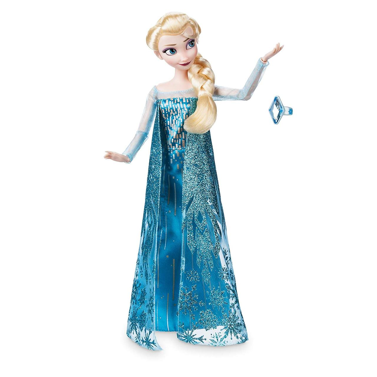 Disney классическая кукла принцесса Эльза с кольцом - Холодное сердце (Уценка)