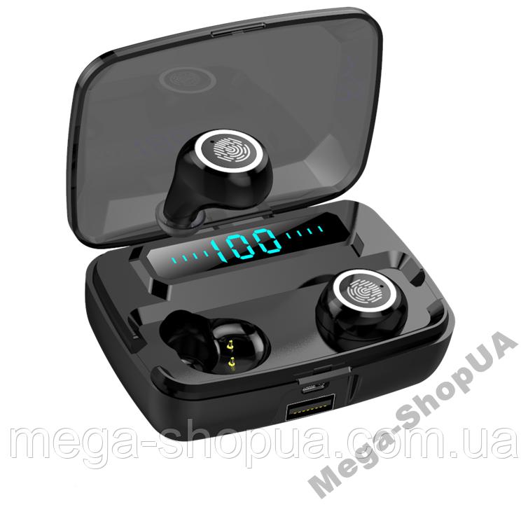 Беспроводные сенсорные Bluetooth наушники MS11 TWS. Бездротові вакуумні навушники. Беспроводні наушники