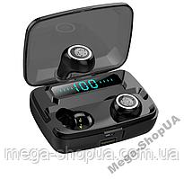 Вакуумные сенсорные наушники и гарнитура беспроводные Bluetooth блютуз MS11 для телефона. Бездротові навушники