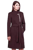 Элегантное пальто воротник стойка